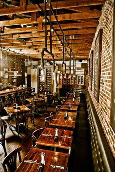 Salt Factory - Salt Factory Pub gastropub restaurant with 3 locations in Woodstock, Kennesaw and Roswell Decoration Restaurant, Design Bar Restaurant, Deco Restaurant, Rustic Restaurant, Pub Decor, Cafe Bar, Pub Bar, Beer Bar, Pub Interior