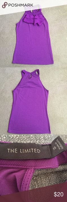 The Limited Sleeveless Top Size- XS Color- Purple The Limited Tops Tank Tops