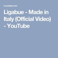 Ligabue - Made in Italy (Official Video) - YouTube