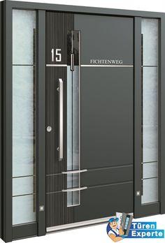 Moderne Haustüre AGE 1166 mit Dekor