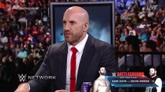 For selfish reasons, Cesaro told the WWE Battleground Kickoff panel on WWE Network that he wants the Sami Zayn vs. Kevin Owens rivalry to end TONIGHT! Sami Zayn, Antonio Cesaro, Sheamus, Kevin Owens, He Wants, Roman Reigns, Selfish, Superman, Special Events