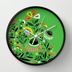 Bouquet Wall Clock | society6