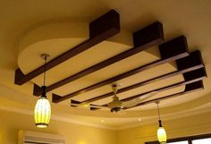 Home Designs , False Ceiling Design : False Ceiling Design With Pendant Lighting