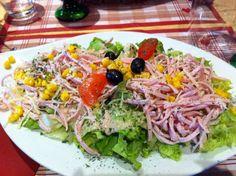 Salade alsacienne, Brasserie des Tanneurs à Colmar, Alsace