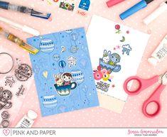 Coloring on colored Cardstock | Zinia Amoiridou