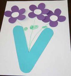 Letter V Vase Craft