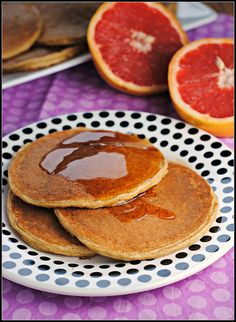 These were so good!!! a mix between pancakes and french toast! Protein Pancakes without funny ingredients