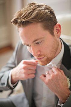 Wedding Photographer Style - Groom preparing for his wedding day | Debra Eby Photography Co.