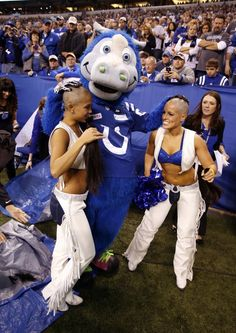 Indianapolis Colts cheerleaders go bald, raising money for cancer research. They both look just as beautiful as before!