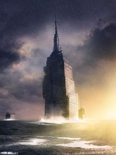 Post-apocalyptic skyscraper