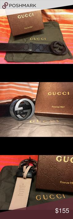 Authentic Men's Imprimé Belt 100%  authentic Made in Italy🇮🇹 Beautiful interlocking GG buckle Perfect for every day use Sizing has been taken care of just choose the size you wear in jeans!  Like to save money? Use the bundle option💰 Gucci Accessories Belts