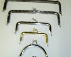 Purse Handles Metal  Silver Color and one gold color finish 3/8 inch thick Variety of Sizes to Choose from