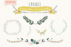 FICHIERS vectoriels Vintage  Couronne de Laurier par summitavenue