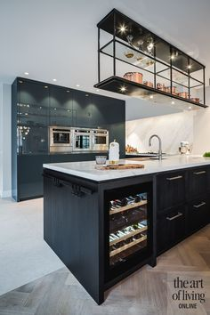 Wooden Kitchen, New Kitchen, Marble Wood, House On A Hill, Bar, Modern Kitchen Design, Modern Industrial, Sweet Home, Interior Design