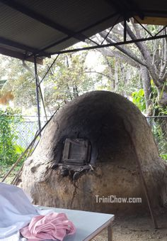"Traditional Outdoor ""Dirt"" Oven in Castara, Tobago Barbados, Jamaica, Grenada West Indies, Old Train Station, Port Of Spain, Caribbean Culture, Beautiful Buildings, Island Life, Trinidad And Tobago"