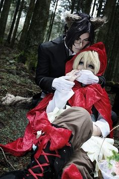 alois x claud as red ridding hood x wolf