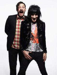 Julian Barratt and Noel Fielding.The Mighty Boosh! These guys push it to the limit and BEYOND Julian Barratt, Noel Fielding, Beautiful Men, Beautiful People, The Mighty Boosh, Mighty Mighty, Favorite Tv Shows, My Favorite Things, It Crowd