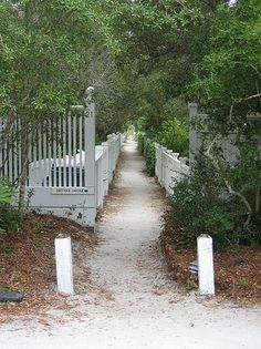 Sandy Seaside Footpath