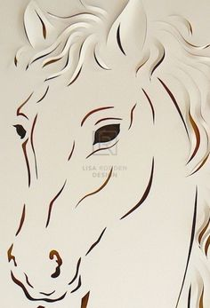 Hand Cut Paper & Acrylic x framed Commission Horse Drawings, Animal Drawings, Kirigami, Horse Stencil, Paper Art, Paper Crafts, Folded Book Art, Book Folding, Book Sculpture