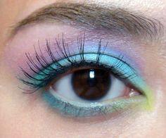 Pastel rainbow makeup tutorial:  http://www.makeup-box.com/post/49555569133/matte-rainbow-eyeshadow-tutorial-88-original