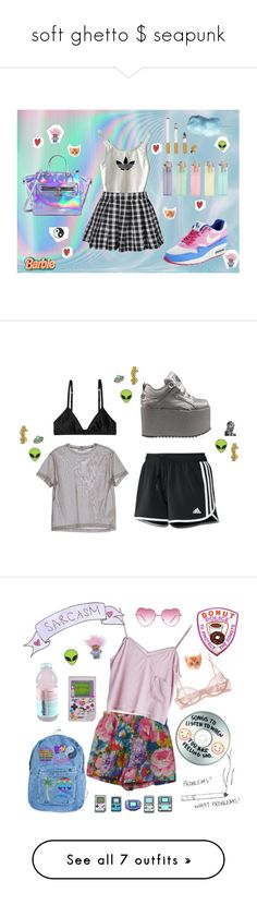 """soft ghetto $ seapunk"" by xovbnr-closet ❤ liked on Polyvore featuring NIKE, Milly, Yazbukey, adidas, nike, catstrollsandaliens, Jil Sander, Monki, Buffalo and Sharpie"