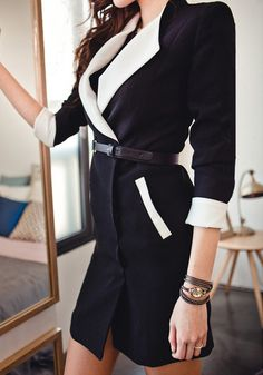 Black Fitted Trench Coat