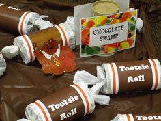 giant tootsie rolls for chocolate swamp
