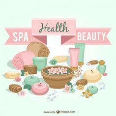 Vector spa, salud y belleza Vector Gratis