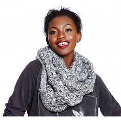 Marled Knit Infinity Scarf- perfect for the upcoming Fall season!