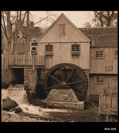 Jenney grist mill (in sepia tone) Looks old though, right?