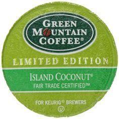 Green Mountain Coffee for Keurig Brewers, Island Coconut,  K-Cup Portion Pack for Keurig K-Cup Brewers, 24-Count - http://www.freeshippingcoffee.com/k-cups/green-mountain-coffee-for-keurig-brewers-island-coconut-k-cup-portion-pack-for-keurig-k-cup-brewers-24-count-2/ - #K-Cups
