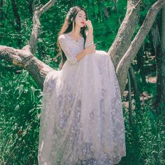 YOSIMI 2017 Summer High Quality Maxi Elegant Lady Lace Long Dress For Travel Tunic Dress White Fairy Dress Evening Party Female collection Fairytale Dress, Fairy Dress, Mori Girl, Set Fashion, Fashion Dresses, Elegant Woman, Pretty Dresses, Beautiful Dresses, Long Summer Dresses