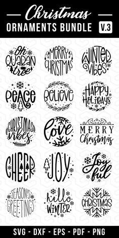 Wooden Christmas Ornaments, Christmas Svg, Cricut Christmas Ideas, Xmas, Silhouette Cameo Projects, Silhouette Design, Ideas Decoracion Navidad, Journal Cards, Junk Journal