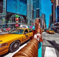 Follow Me NYC Yellow Taxi Cab - Murad Osmann, 2014/10/28, //133.