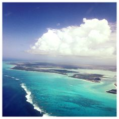 Turks and Caicos from the plane. #beautiful