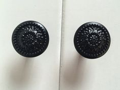 Black Drawer Knob Cabinet Door Knobs Handles by ARoseRambling
