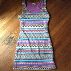 Fun Dress! This is a super fun dress. Great festival wear. In great condition, except for the snags-as pictured. I literally only wore this once. Tag says medium, but I would say it's a small. FYI, it shows every flaw. Not very forgiving. For the for gal. Chelsea & Violet Dresses Mini