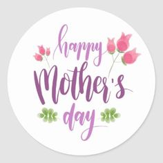 Pretty Floral Wreath Happy Mother's Day Classic Round Sticker   Zazzle.com Happy Mothers Day Images, Happy Mother Day Quotes, Mothers Day Cards, Mom Cards, Mothers Day Classic, Happy Mom, Mother And Father, Mother Gifts, Tool Design
