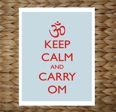 Just listed, Keep Calm and Carry OM!   Perfect holiday gift for all the yoga enthusiasts in your life!