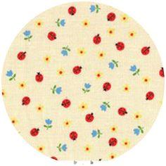 Lecien, Minny Muu, Ladybugs Yellow - fabricworm.com