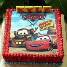 Disney Cars sheet cake