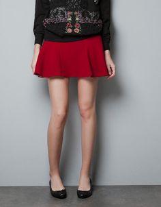 SKIRT WITH MINI FRILL - Skirts - Woman - ZARA United States