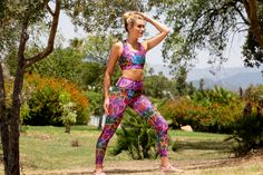 Blending rainbow beauty with snakeskin charm, these colourful leggings will turn heads wherever you dare to wear them. This reptile print is totally squat-proof and cut from breathable LYCRA fabric to keep you fresh and confident during workouts.  Rainboa leggings fit like a second skin with a high waistband that hugs your tummy in.