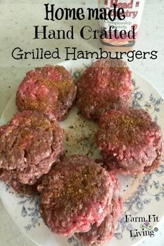 Homemade Hand Crafted Grilled Hamburgers - best homemade hamburger recipe home. - Homemade Hand Crafted Grilled Hamburgers – best homemade hamburger recipe home… – Homemade - Homemade Burger Patties, Making Burger Patties, Best Homemade Burgers, Homemade Hamburgers, Hamburger Patties Recipe, Hamburger Seasoning Recipe, Best Burger Seasoning, Hamburger Sauce, Homemade Bbq