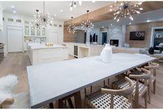 Horseshoe wooden kitchen beam divider - Bryan and Sarah Baeumler's kitchen