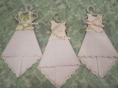 Hanging Hankie Dress Ornament  White by ShoeFlower on Etsy, $3.00