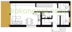 Erdgeschoss Fertighaus ek 024