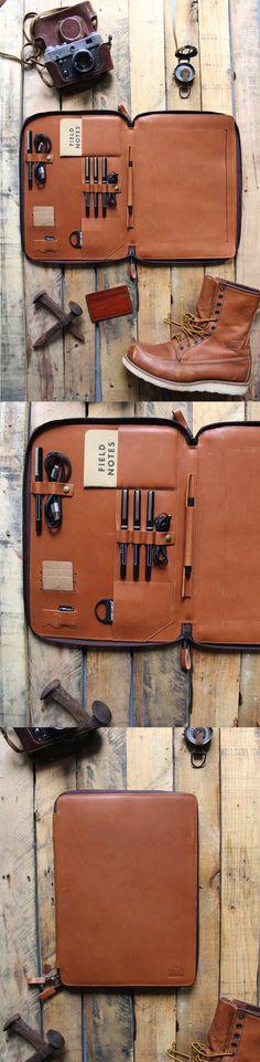 "Cognac apple air macbook case. Fits 13"" laptop plus iPad and all of your edc essentials"