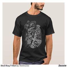 Skull King T-Shirt T Shirt Designs, Design T Shirt, T Shirt Noir, Cute French Bulldog, Ballet Girls, Yoga, Summer Tshirts, Gifts For Girls, Tshirt Colors