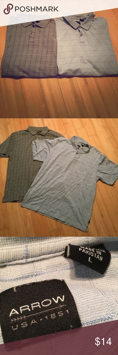 Arrow men's shirts These shorts have never been worn. No rips or stains. Comfortable material. In good condition! Arrow Shirts Polos